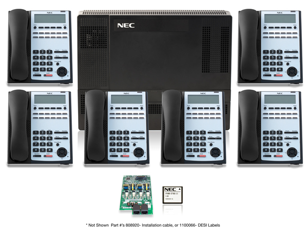 SL1100 Digital Quick Start Kit with 12 Button Telephones nec sl1100 phone system teleco nec sl1100 wiring diagram at fashall.co