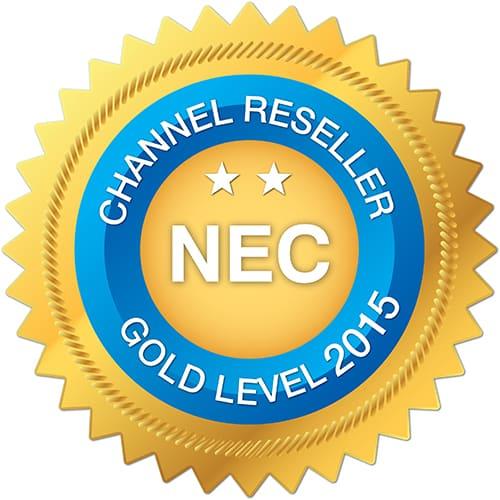 NEC Channel Reseller - Gold Level 2015